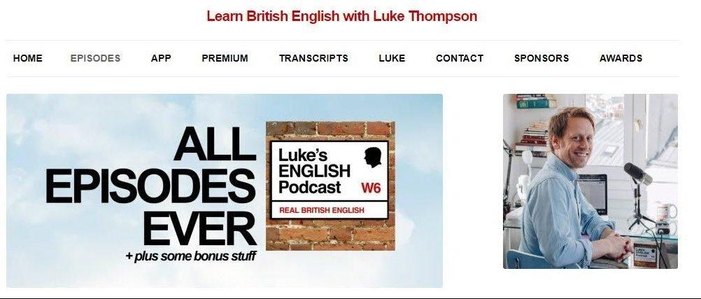 vista della pagina di download di tutti gli episodi del podcast di Luke